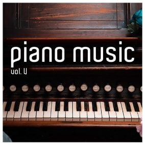 The Piano Music Vol. V pack focuses on beautiful and melancholic music featuring the sound of a special grand piano.