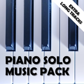Piano solo music packs with 15 extra long tracks