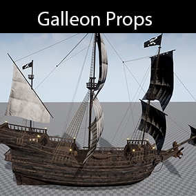 Pirates Galleon and Props