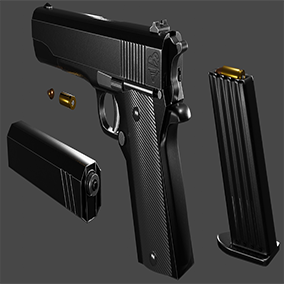 Highly detailed Pistol 3D model with realistic appearance.A high quality model built with game development in mind.