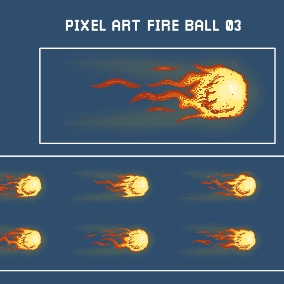 Pixel Art Fireball Pack