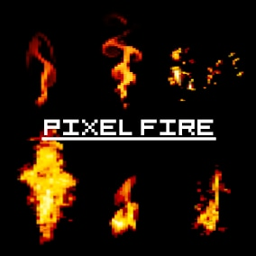 Amazing Pixel Fire Flipbooks! Can be used in 2D or 3D projects!