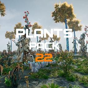 Set of plants for fantastic worlds