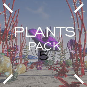 Set of plants and trees for fantastic worlds.