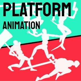 Animated crates for platform games