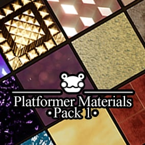 14 Stylized Materials perfect for any fun platforming game!
