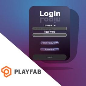 Simple login system using Azure Playfab.