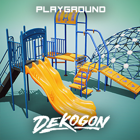 A collection of playground equipment props used for game dev!