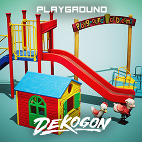 A collection of playground equipment props used for game dev and arch viz!
