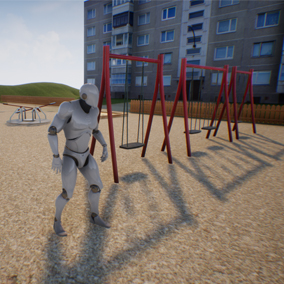 This playground will also do great for an architectural scene or a game.