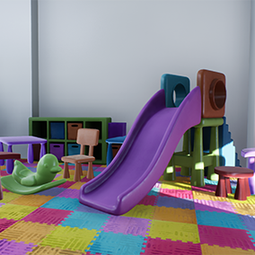 This playroom kit is great for adding richness and variation to your level. Assets can be changed to any color scheme you like.