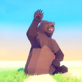A beautiful Poly Art Bears for your Low Poly Environments