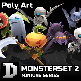 poly art asset to give you a quick start in building your own character