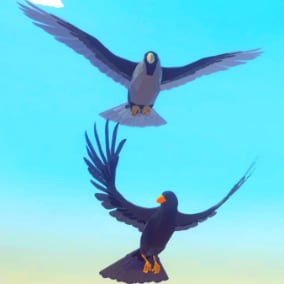 Beautiful Poly Art Ravens and Crows for your Low Poly Environments