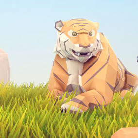 A beautiful Poly Art Tigers for your Low Poly Environments