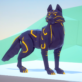 A beautiful Poly Art Wolf for your PolyArt Environments