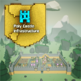 The Poly Castle Infrastructure pack is a low poly asset pack containing a set of assets that will enable the user to create a comprehensive medieval environment.  Structures come with multiple levels of construction to simulate different upgrades.