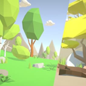 Poly_Low: Trees_Pack is a pack with 152 beautifully hand - crafted stylized trees + bonus stones, plants, terrains and clouds.