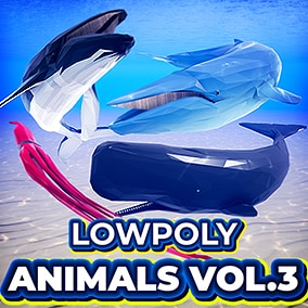 These Animated Low-Poly Ocean Animals all contain a dynamic Spline blueprint, which makes your creatures bend and roll as they swim along your custom spline path!