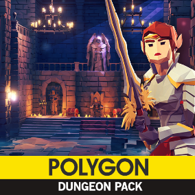 Synty Studios Presents - Polygon - Dungeon Pack. A Fantasy themed asset pack.