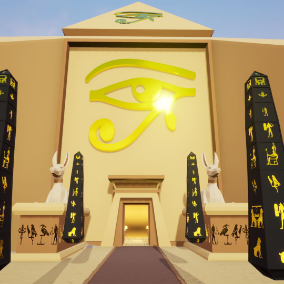 Egyptian Themed Fantasy Polygon Pack containing 222 custom assets.