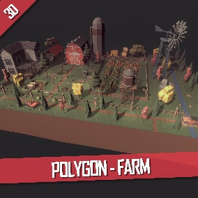 Large low-poly farm that includes everything you need to create large and interesting levels.