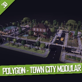 Large low-poly modular city that includes everything you need to create large and interesting levels.