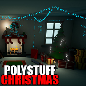 Christmas low poly assets, customizable color palettes and highly optimized assets