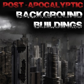 Post-Apocalyptic Background Buildings System