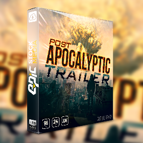 "The day of reckoning is here! Inspired by Hollywood box office hits like Mad Max and The Book of Eli, we present to you ""Post Apocalyptic Trailer"" – ESM's Team newest hard hitting, bass rumbling designed movie trailer sound effects collection."