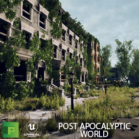Post Apocalyptic World contains over 100 AAA models to create your own abandoned city.