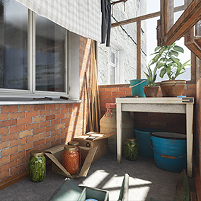This pack was developed for the Twin Soul game demo, and includes a corridor and balcony (according to real Russian room standards) with many objects common to Russian life.