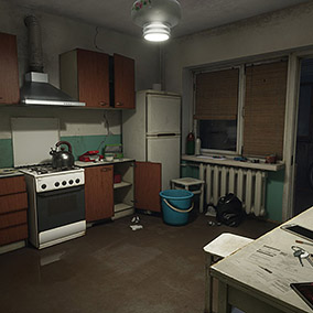 This pack was developed for the Twin Soul game demo. It includes a flat according to real russian standards, with many objects suitable to russian life.