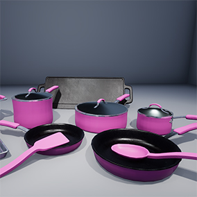 A collection of pots, pans, and lids for use in all ranges of projects
