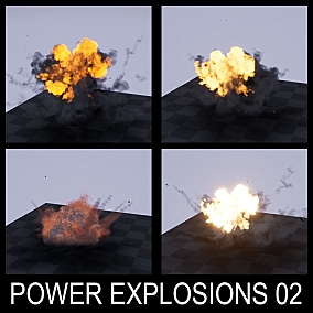 The FX pack contains powerful game-ready explosion effects (made in cascade particle editor). Take a look at the video presentation for more details.