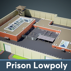 Low-poly asset pack designed to create Prison of any type