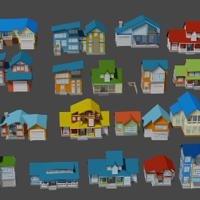 160 unique low-poly objects has all the components to build a city of your choice