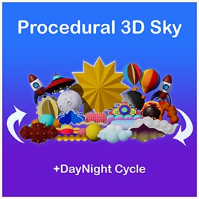 Stylize Your sky with 3D Sky Elements + Day & Night Cycle (Procedural Blueprint)