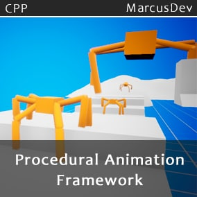 A complete framework for creating procedural motion written in C++. Fully customizable with 15+ base variables and curves to modify and fine tune. Perfect for crawl like creatures or monsters in games.