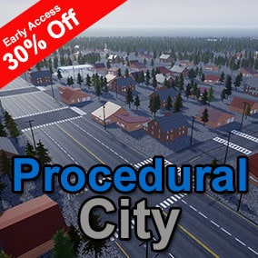The Procedural City Generator (PCG) is a set of editor tools that helps you quickly generate true-to-scale cities in your scene. PCG is designed to be flexible and extensible to allow you to customize each city to your needs.