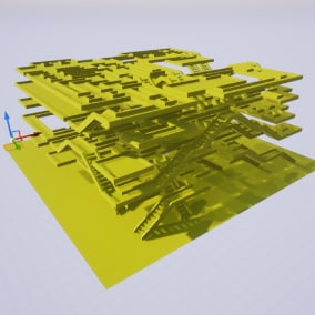 Basic version of Wave Function Collapse algorithm for procedural environment generation