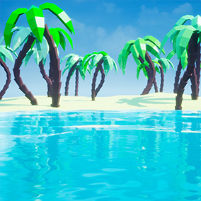 A procedural low poly water solution. Customizable.