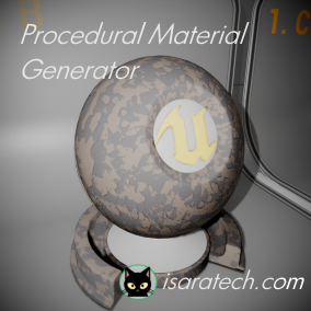 Procedural material generation using noise library