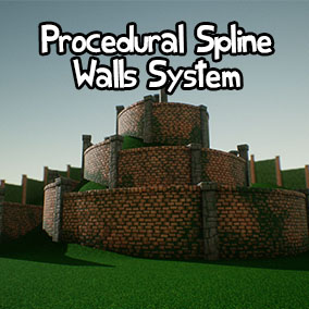 A procedural spline walls system that allows you to easily create walls in any shape, and have them snap automatically to the landscape. Includes many different looks and appearance settings, and allows you to easily use custom Materials and Meshes.