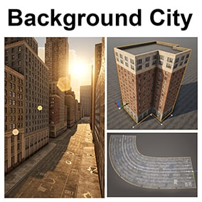This package has blueprints that you can use to create a procedural city. Customize the materials, dimensions and shape of each building. Good for backgrounds, mobile platforms, VR etc.