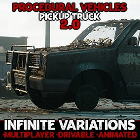 Generate infinite interactable Pickup Truck variations with flexible, procedurally generated blueprint actors!