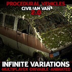 Generate infinite interactable van variations with flexible, procedurally generated blueprint actors!