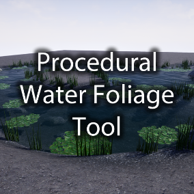 Easy to use Procedural Water Foliage Tool that automatically generates foliage around, ontop, and under water surfaces.
