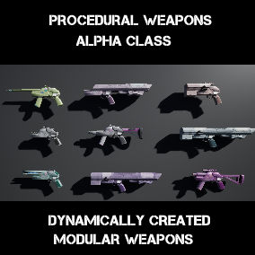 Procedurally generated weapon framework. That constructs the weapon mesh, name and statistics.