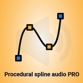 Spline based system which continuously updates an audio emitter location on spline toward listener location.